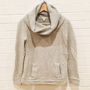 J.Crew Funnel Cowl Neck Hoodie Sweater XS